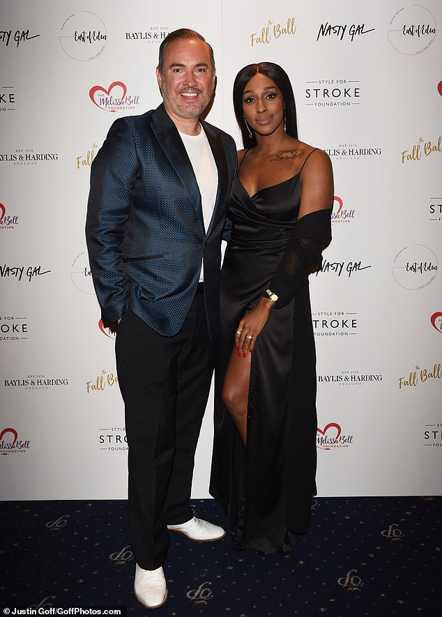 Joining forces: She arrived at Cafe de Paris alongside PR guru Nick Ede, who was throwing the event