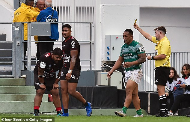 New Zealand winger Julian Savea was sent to the sin bin on a disastrous day for the French side