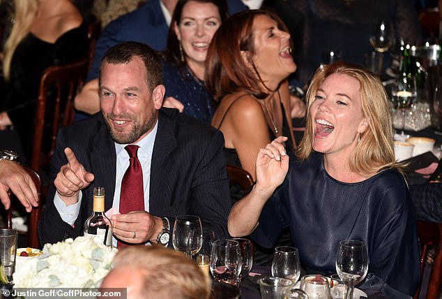 Life and soul: Autumn and Peter Phillips were seen cracking up at their table