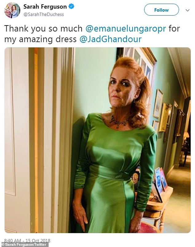The news of Harry and Meghan's pregnancy was revealed at 8.40am on October 15 2018 - and at that exact time, Eugenie's mother Sarah, Duchess of York posted a tweet about her daughter's big day