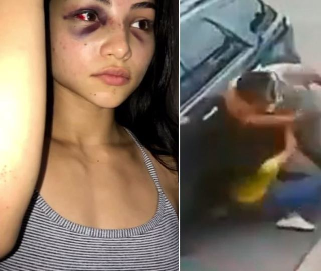 Petite Woman Throws Punch At Big Guy And Gets Beaten To The Ground In A Parking Space Dispute Daily Mail Online