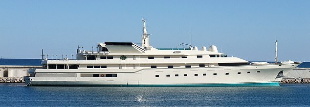 The lavish power symbol had accommodation for 52 people and a helicopter landing pad