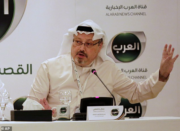 Horrifying: Journalist Jamal Khashoggi was thrown onto a desk and dismembered by a Saudi 'hit squad' while he was still alive, according to an anonymous source