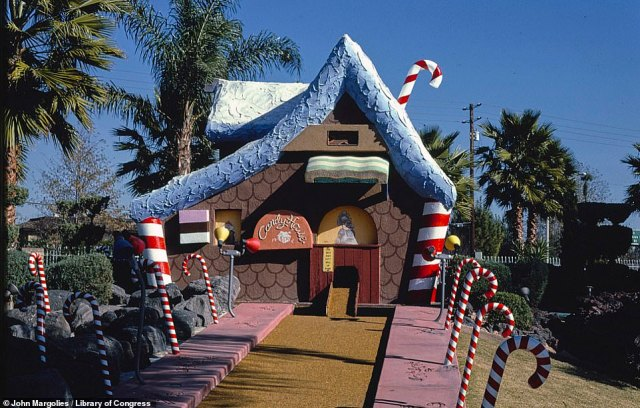 The Candy House at the then Castle Amusement Park in Riverside, California, in 1985. Around the time the picture was taken, the park was extended