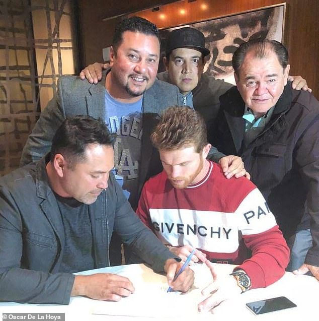The Mexican sensation put pen to paper in the early hours of the morning on Wednesday