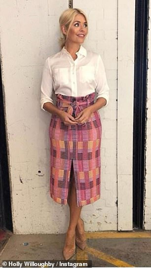 Chic: John was among 60,000 people who liked her Topshop skirt snap