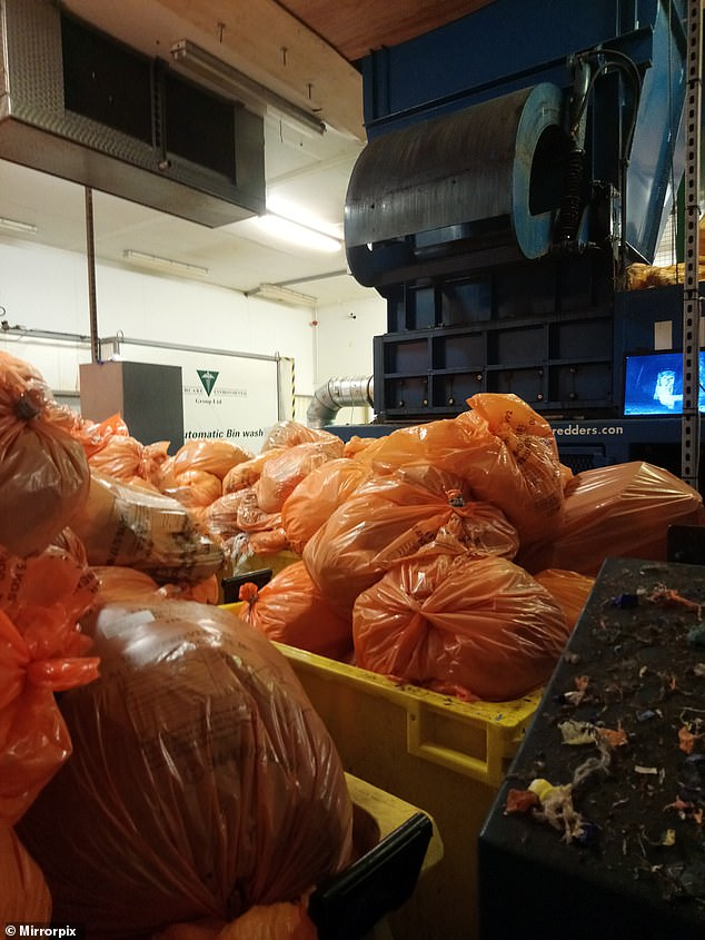 The whistleblower has raised concerns about the waste (pictured) at the Healthcare Environmental Services plant