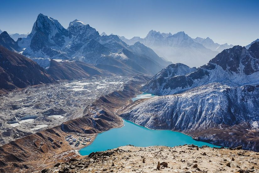 The trip includes a helicopter ride to enjoy the sunrise from Mount Everest Base Camp in Nepal