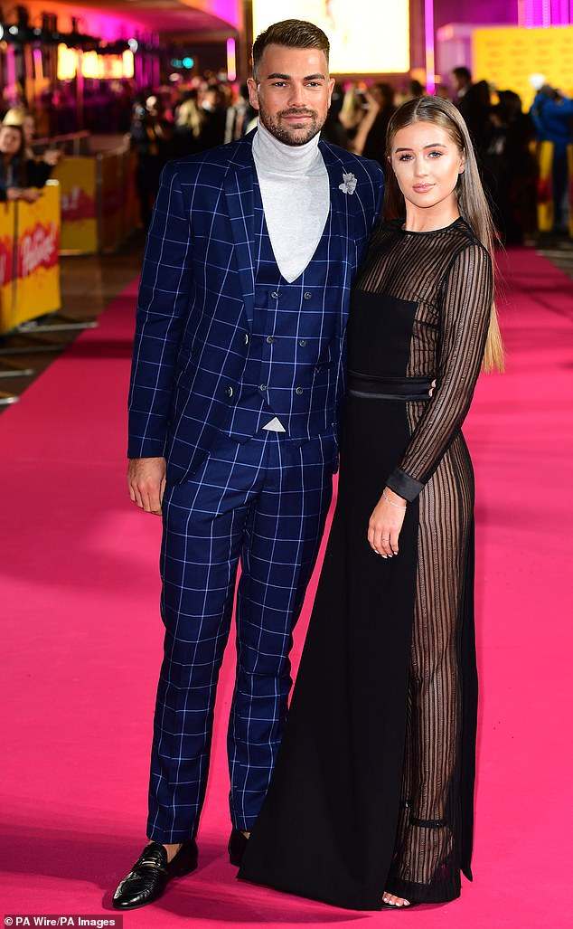 All over: The couple went their separate ways just hours after this photo was taken at the ITV Palooza on Tuesday night - but Georgia says she did remain loyal to Sam