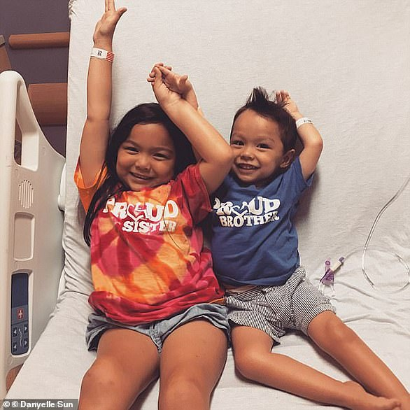 Ruby Sun, age six (left) and her three-year-old brother, Landon (right) both have spinal muscular atrophy, a genetic disease that kills more infants than any other and has weakened Ruby and Landon so drastically that they could not walk. But, since they started a new treatment in July the children have made astounding progress