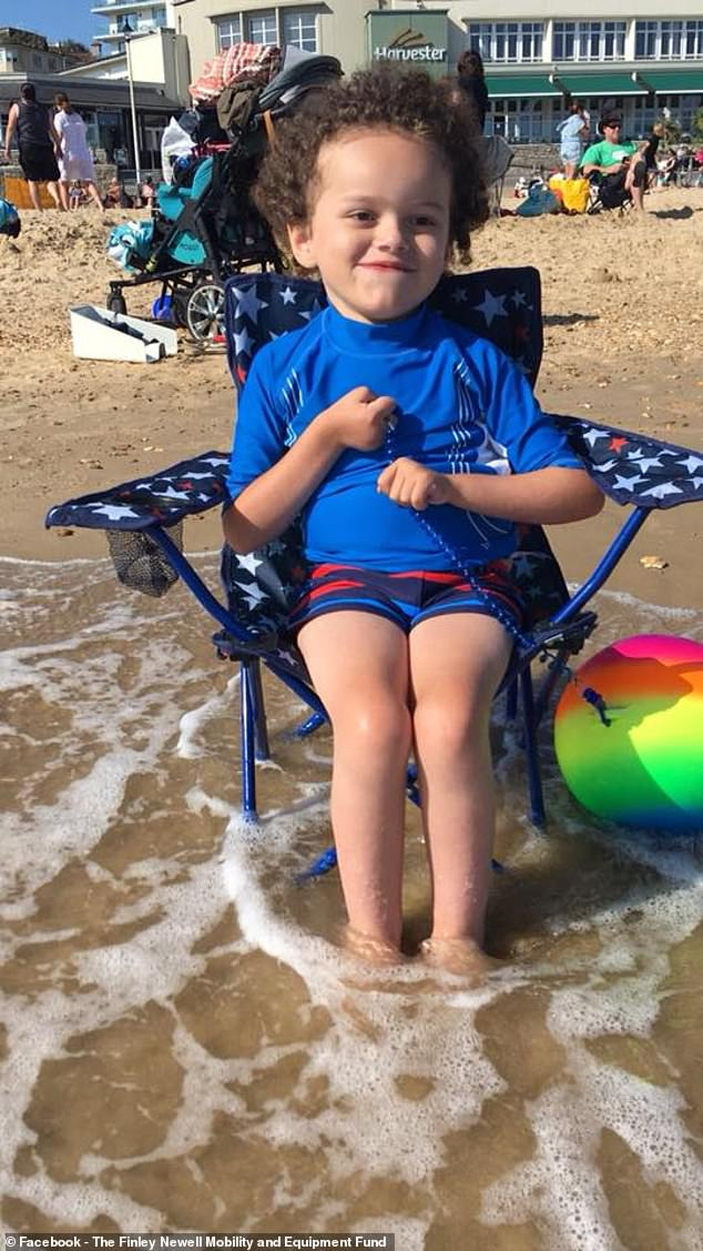 Finley is a stoic, brave and cheerful boy, his mother says, and is 'just like an average five-year-old' when his health is good, but the longest they have been without a visit to intensive care since he was two is eight months