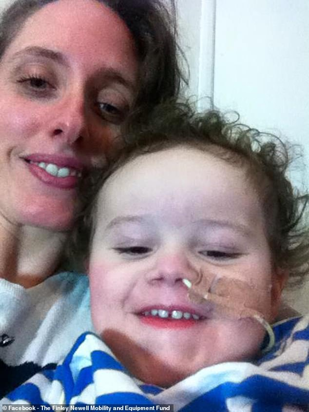 Finley's mother, Rosie Davies (pictured) said it is 'incredibly cruel' to deny children a drug which is already known to help with the condition and can be prescribed in the US, Europe and Scotland