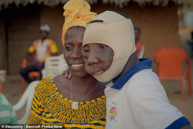 Reunited:Kambou Sie reunited with his mother after a long period of estrangement