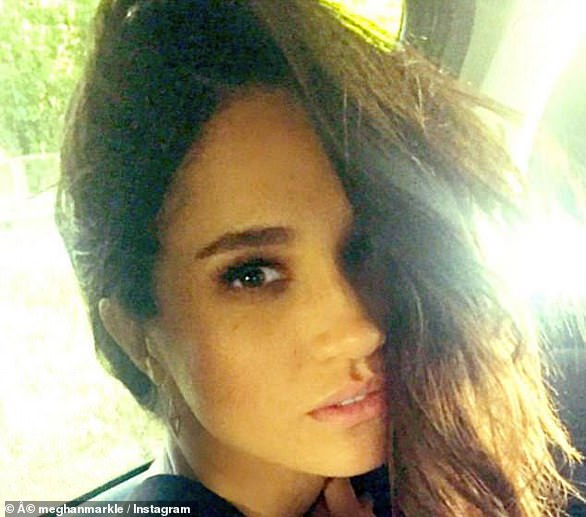 Meghan's old Instagram account contained plenty of playful selfies, such as the one pictured