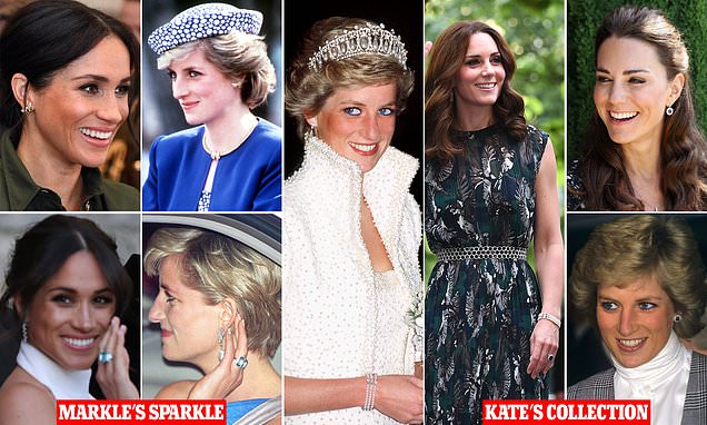 Jewels Diana left for her boys are proudly worn by Meghan and Kate