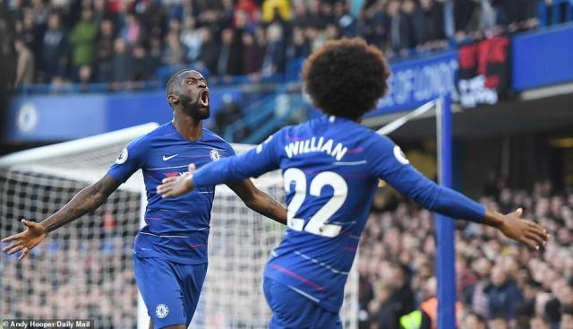 Chelsea went ahead midway through the first half when Antonio Rudiger found himself unmarked in the area to head home