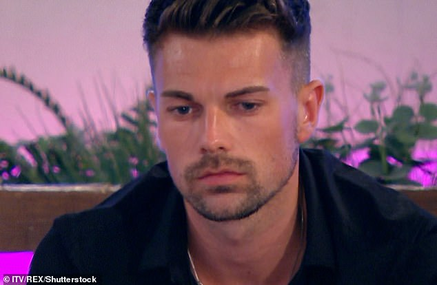 Upset:Love Island's Sam Bird has claimed he broke off his relationship with Georgia Steele after finding a secret selfie of her in bed with her ex-boyfriend