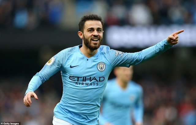 The Portuguese star doubled the lead for Manchester City and they looked a class apart from the opposition