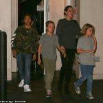 Angelina Jolie and kids grab sushi in LA