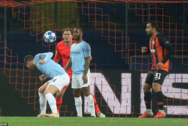 Laporte was left unmarked in the box and he headed the ball pastAndriy Pyatov in theShakhtar Donetsk goal in the first half