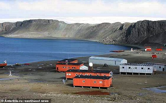 Bellingshausen Station in Antarctica, wherec