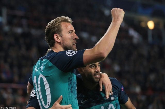 Harry Kane and Lucas Moura had earlier scored for Tottenham as they came from behind only to concede late on