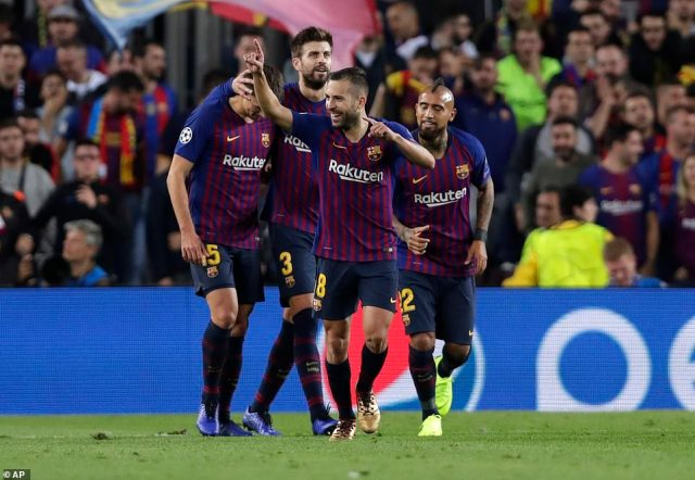 Barcelona wrapped up their win in the final ten minutes and the victory has them sitting atop Group B