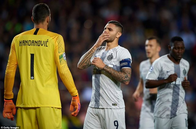 Inter will still have high hopes of qualifying for the knockout stages but will be disappointed by the defeat