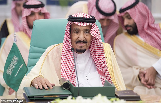 According to Colonel Brian Lees, once the UK's defence attaché to Saudi Arabia and Yemen, the Crown Prince's days as de facto ruler are numbered and his father, King Salman (pictured), may now look to replace him following his disastrous handling of the case