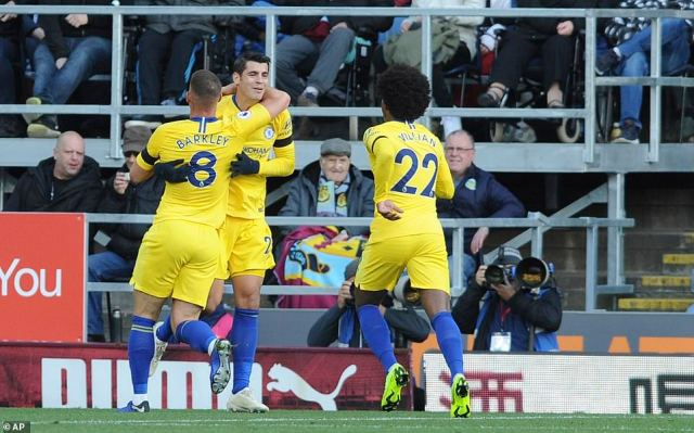 Chelsea climbed into second place in the Premier League table with a convincing 4-0 win over Burnley at Turf Moor