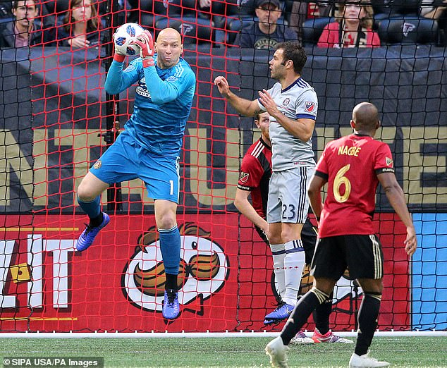 The former Aston Villa goalkeeper Brad Guzan is one of the most famous names in the Atlanta team