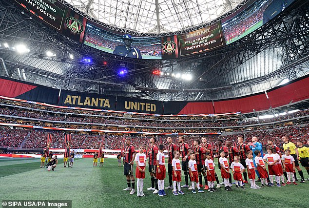 Mercedes-Benz Stadium of Atlanta United before a game against the New England Revolution