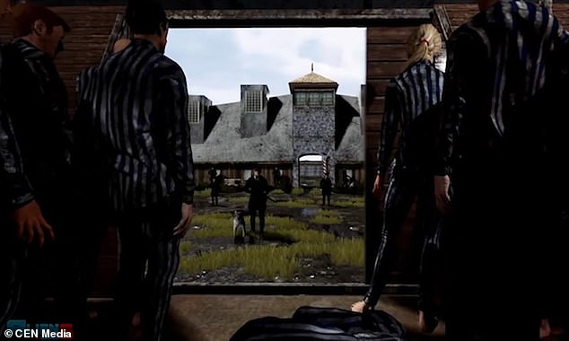 The game allows players to embody Nazi SS officers in an Auschwitz-like concentration camp