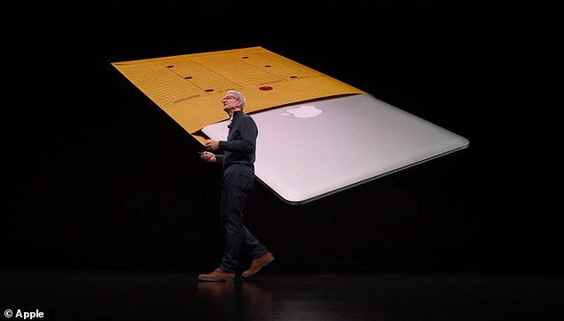"Apple's hardware event in New York started with the Mac when Cook announced that Apple has reached a milestone of 100 million devices worldwide. And no one is more popular than the MacBook Air - the ""most popular notebook ever""."