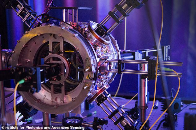 "The nuclear chamber in which the nuclear tractor beams were created. The scientists, published in the journal Physical Review Applied, say this is the first time that scientists have been able to demonstrate a highly efficient ""waveguide trap""."