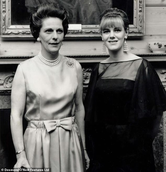 The Duchess of Cornwall (pictured with her deceased mother, the Honorable Rosalind Shand from 1965) has been from the & # 39; slow and agonizing & # 39; Spoken death her mother had to suffer from osteoporosis. In 2011, the Duchess said she lost eight inches in height and was too bent to eat