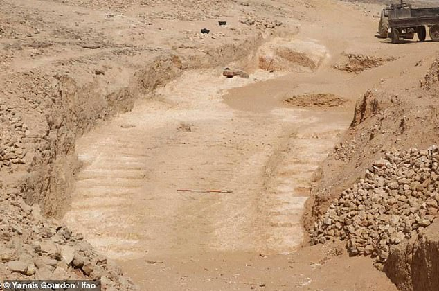 The remains of a 4,500-year-old ramp system were uncovered in an old quarry in the eastern desert. Experts say such a design would have taken some weight off the workers who had to carry these huge loads
