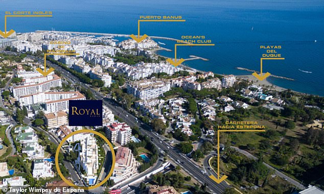 Taylor Wimpey's new development in Puerto Banus is less than a mile form the beach