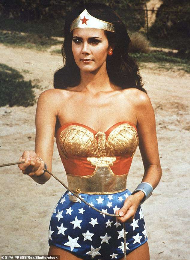 Lynda Carter famously played a bombshell version of the Superhero Wonder Woman in a 1970s TV series of the same name. The character is a founding member of the Justice League