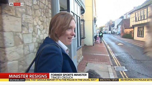 Tracey Crouch told reporters in Kent constituency last week she had no regrets whatsoever about her decision to resign