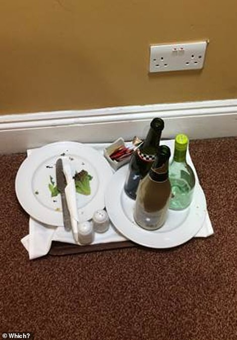 A half-eaten salad and an empty wine bottle that? The investigator said he had stayed outside a neighboring room during the investigator's stay