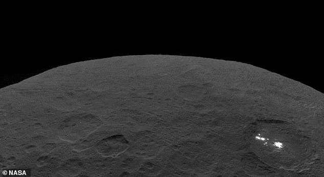 This photo of Ceres and the bright regions of the Occator Crater was one of the last images NASA spacecraft Dawn had transmitted before completing her eleven-year mission