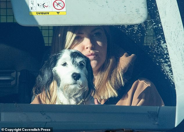 Sam and dog Miley traveled with Chris to the Carrington training ground of Manchester United