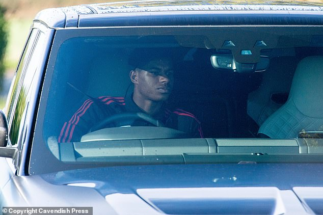 Lingard's close friend Rashford decided to drive on Friday morning rather than the carpool