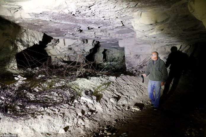 Gilles Chauwin, President of the Chemin des Dames Association and avid WW1 lover, walks through the Froidmont Quarry