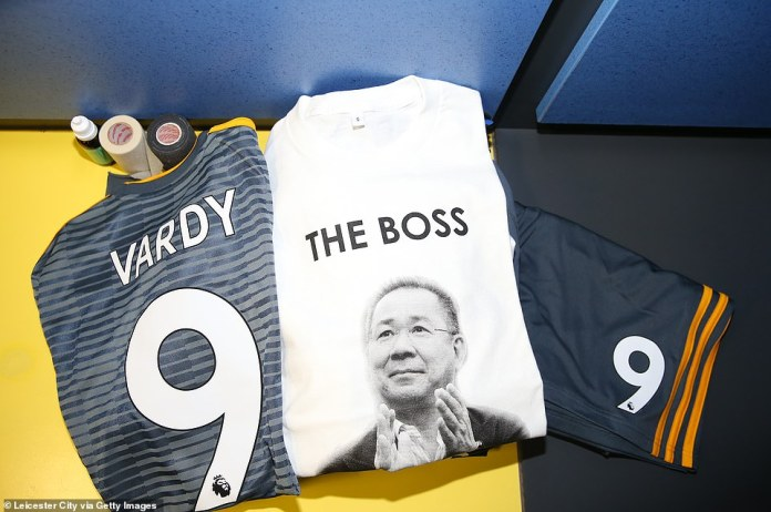 Srivaddhanaprabha are laid out in Leicester's dressing room
