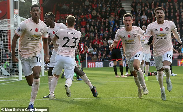 Marcus Rashford (left) scored one last victory when Manchester United beat Bournemouth 2-1