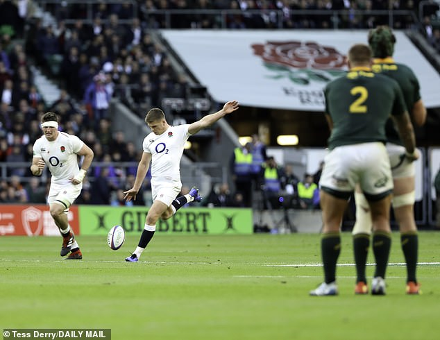 Co-captain Farrell was in good form on his kick, scoring nine of England's 12 points