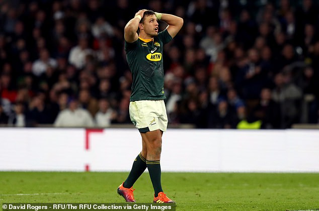 Handre Pollard had a good game for South Africa, but looked like he missed a late penalty