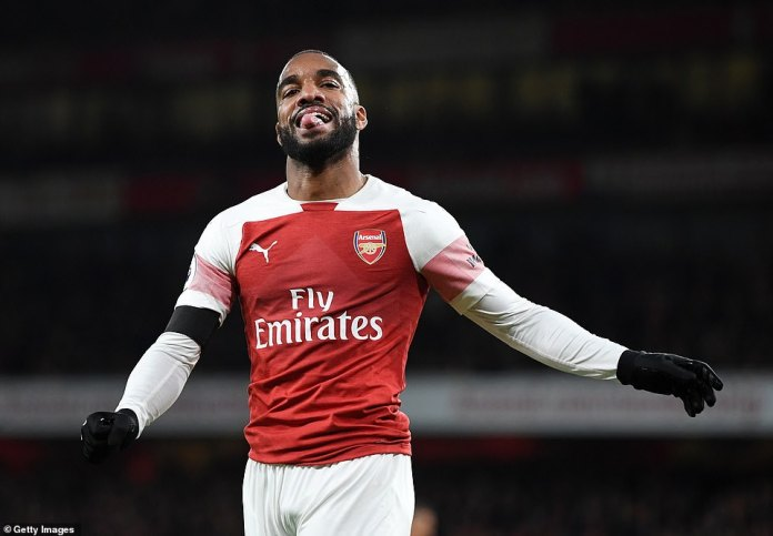Lacazette bites his tongue as he realizes that his efforts in the first half on Saturday were ruled out for offside